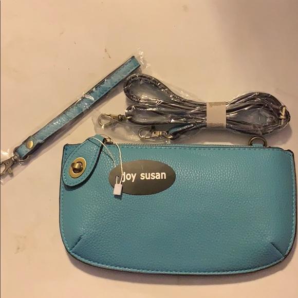 Joy Susan Handbags - Joy Susan Convertible Clutch Wristlet Light Blue